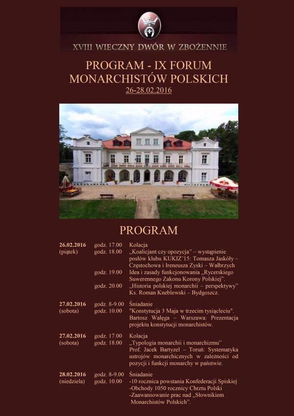 ix forum monarchistow program