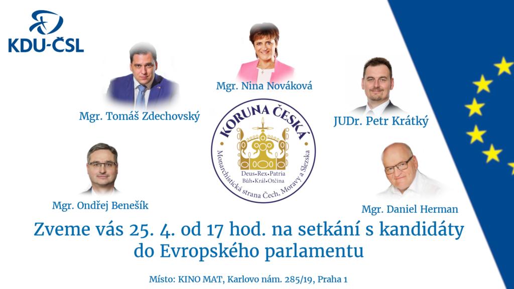 Pozvanka na setkani s kandidity do EP 25.4.2019